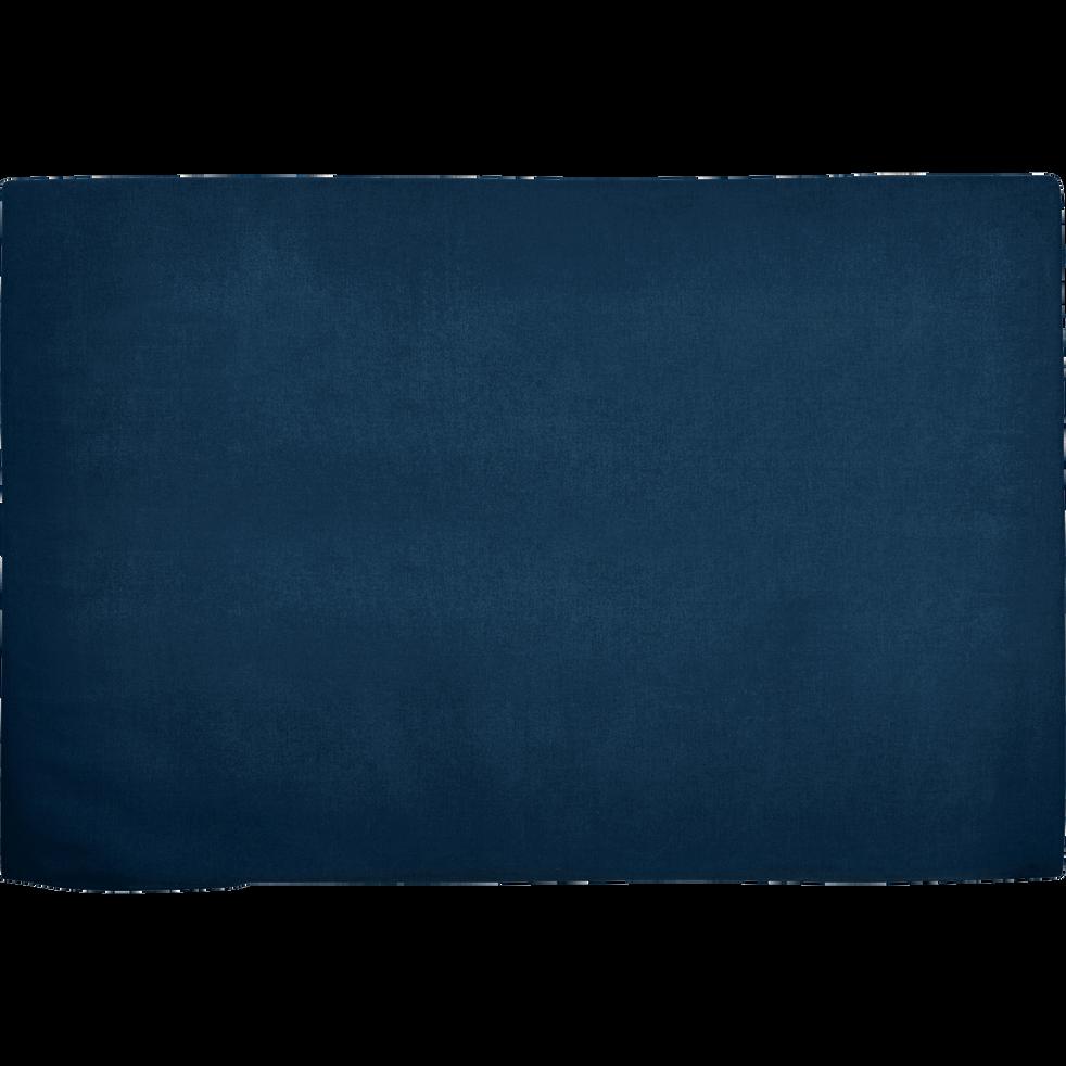 housse pour t te de lit topaze bleu figuerolles l160 cm. Black Bedroom Furniture Sets. Home Design Ideas