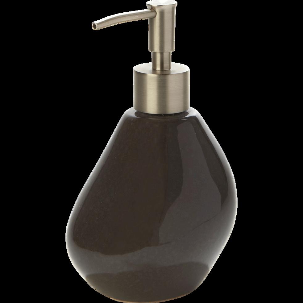 Distributeur de savon gris brillant en céramique-Jarro