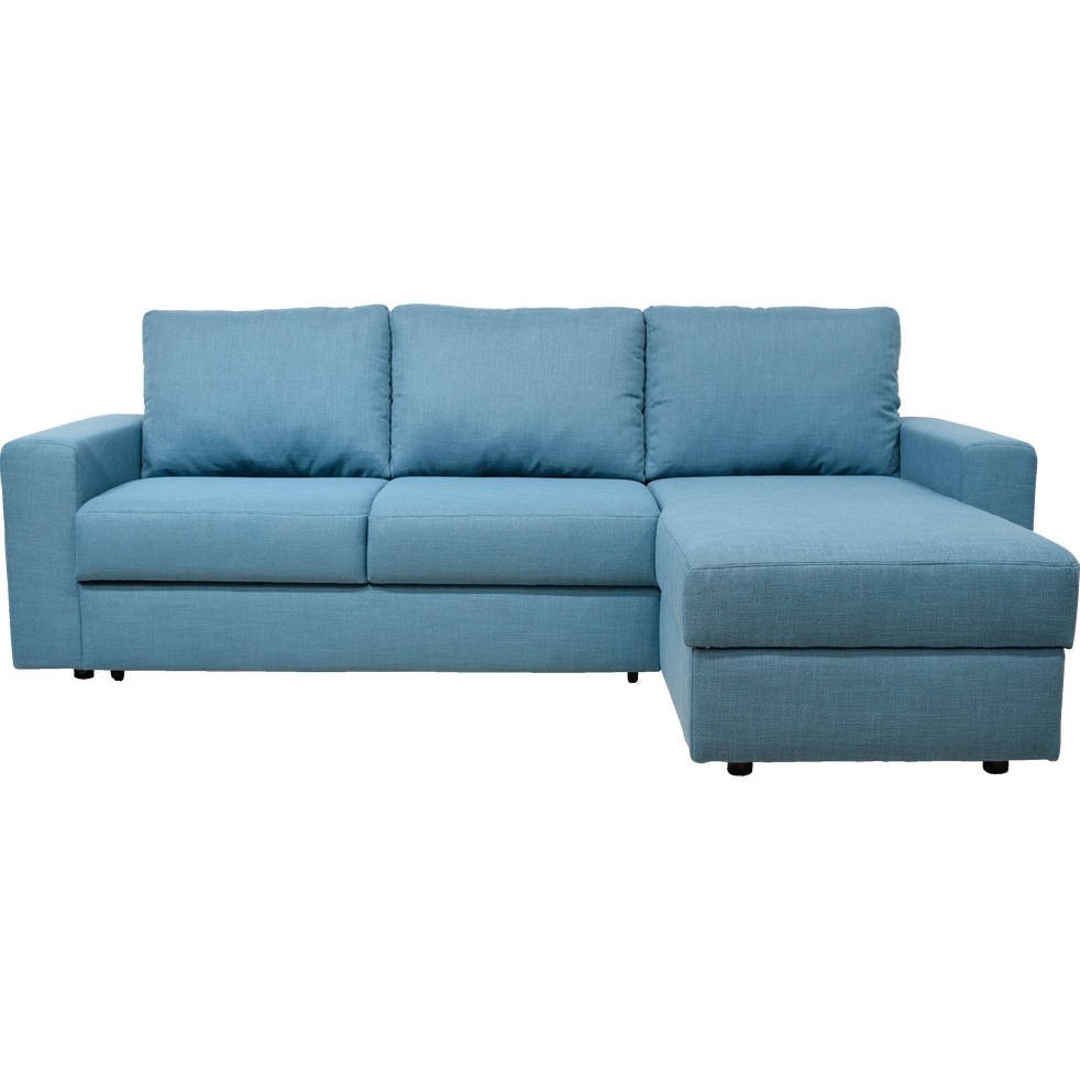 Canapé d\'angle réversible convertible en tissu bleu figuerolles ...