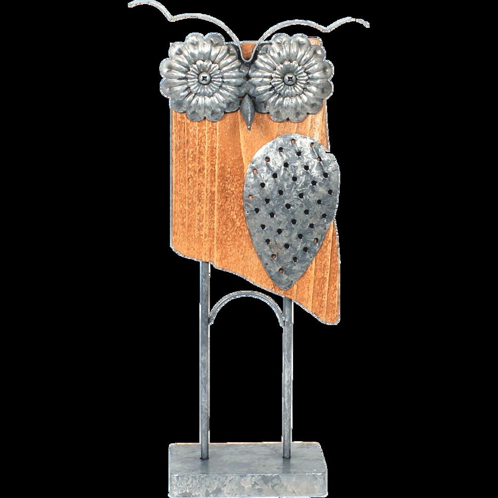 Chouette décorative H50xL23xP10cm-CHOUETTE