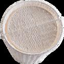 Poubelle de salle de bains blanche avec couvercle à bascule-REGATE
