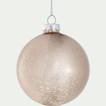 Boule de Noël en verre D8cm - blanc-PELASE