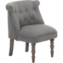 Petit fauteuil en tissu style crapaud gris-Mini chante