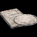 Tapis imitation fourrure gris 60x120cm-Dallas