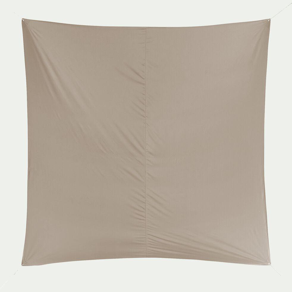 Voile d'ombrage carré 3,6m - beige alpilles-Rosa