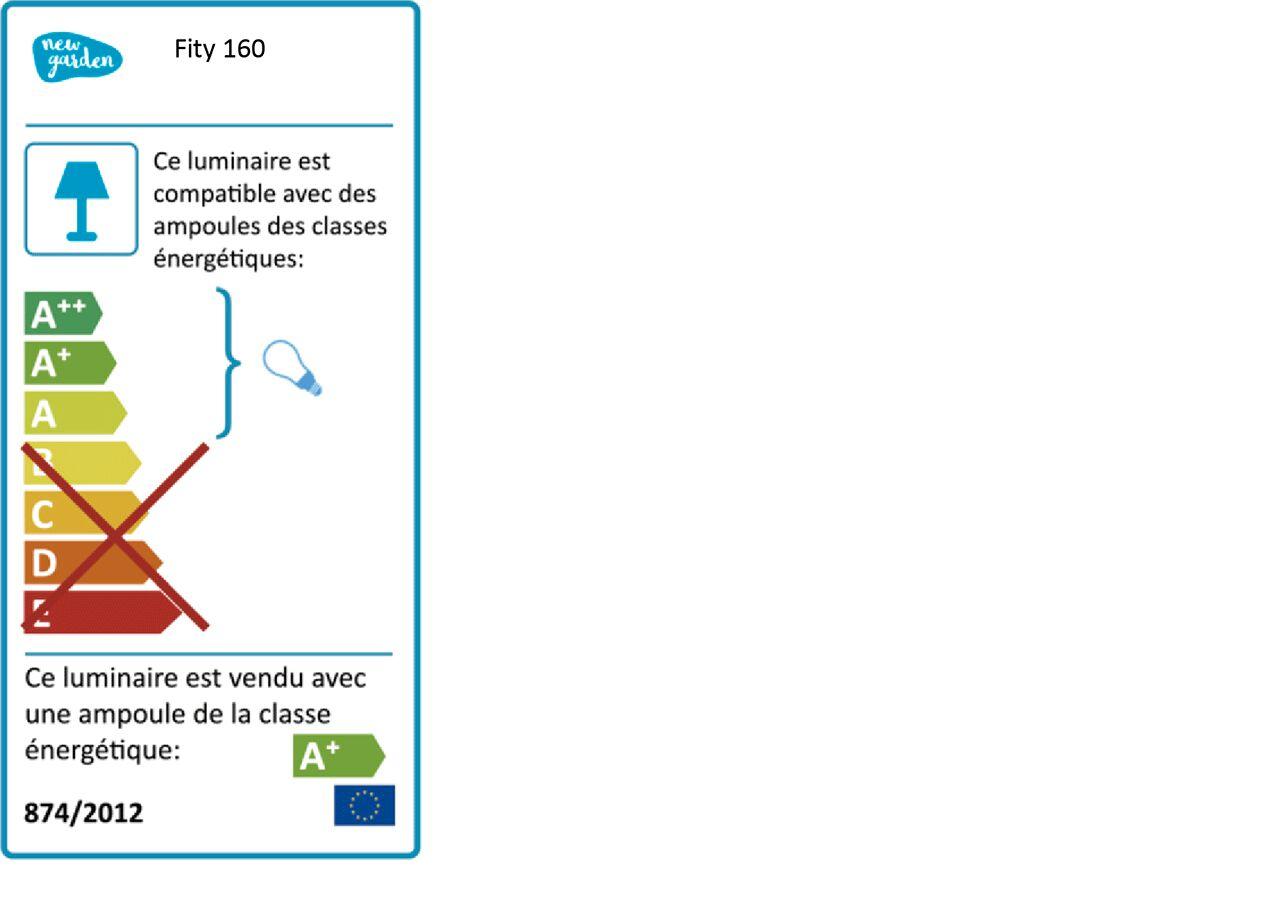 Lampadaire néon d'extérieur variable - blanc H160cm-FITY 160