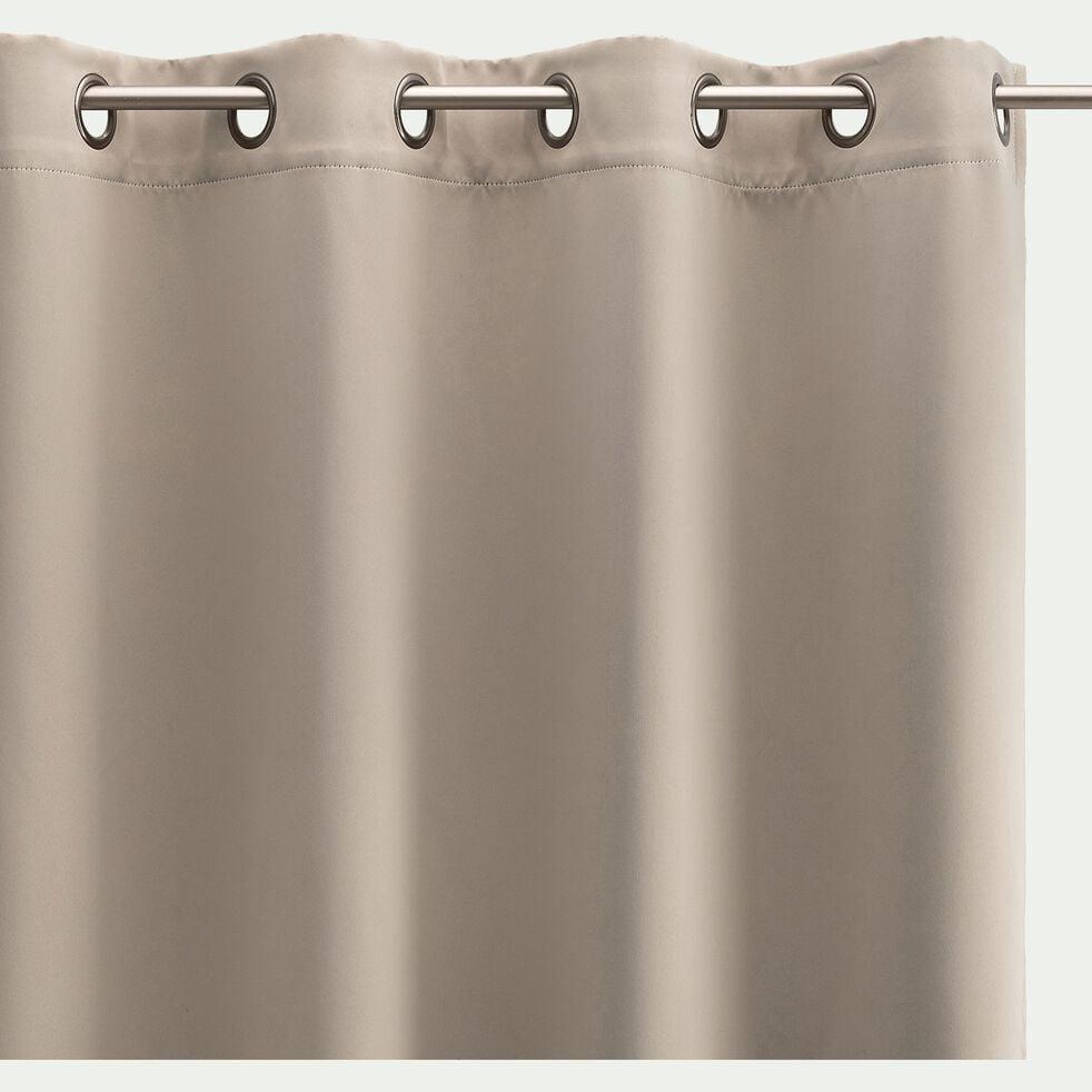 Rideau occultant à œillets en polyester - beige alpilles 140x250cm-GORDES