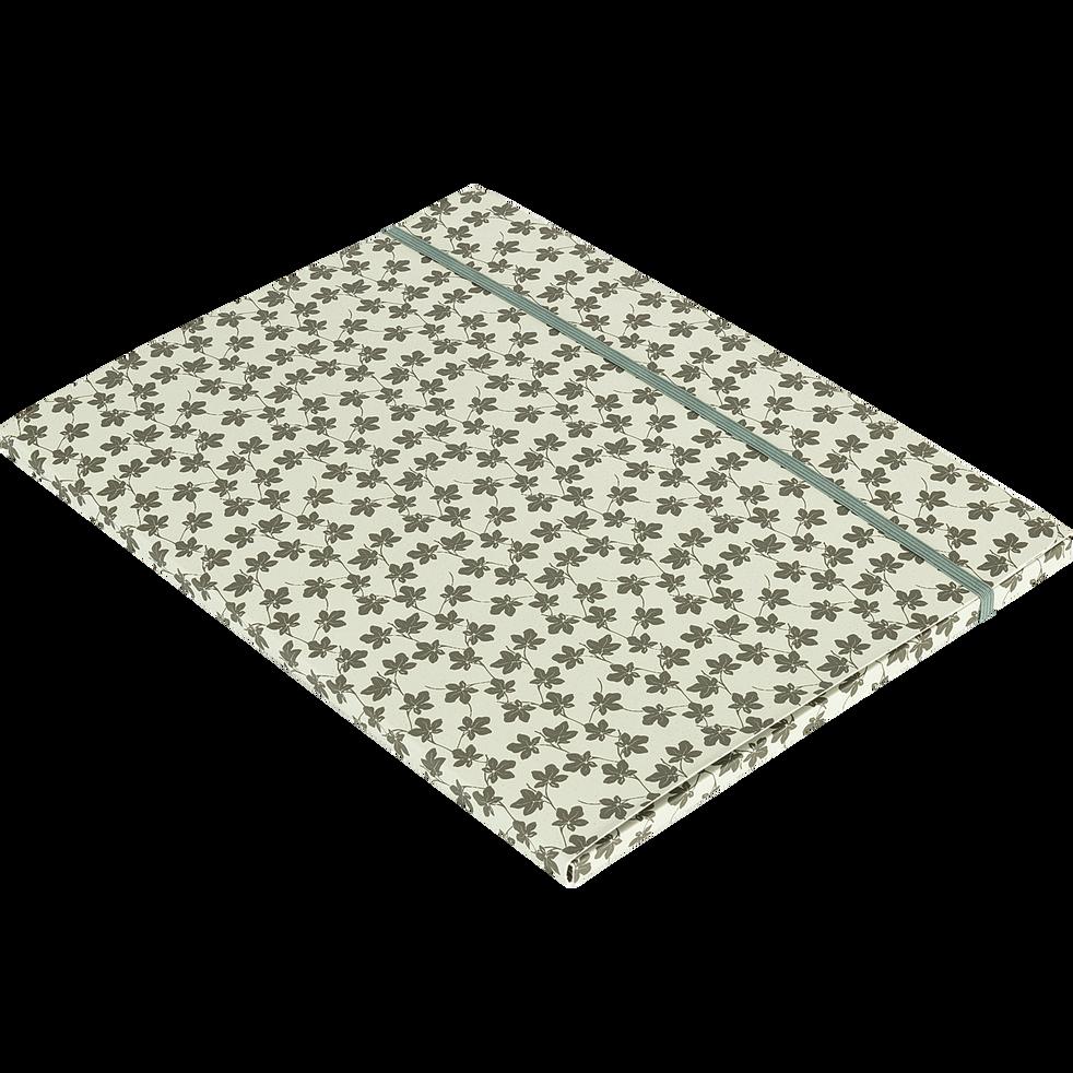 Pochette à rabat motif Figuier 32x23cm-FIGUIER