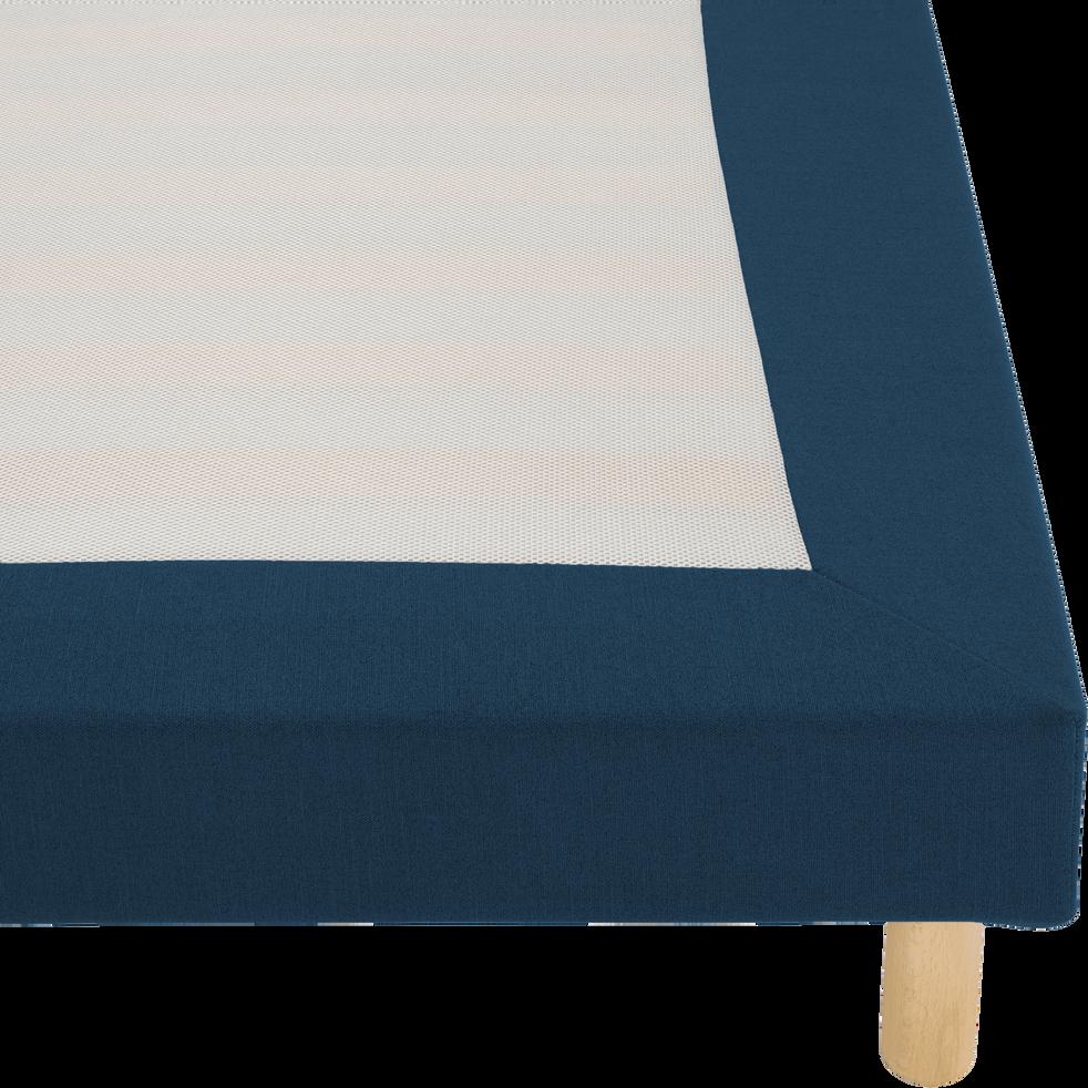 Housse pour sommier Topaze Bleu figuerolles - 140x200 cm-TOPAZE