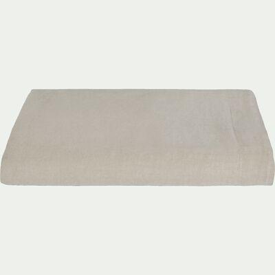 Drap plat en lin lavé - beige 270x300cm-VENCE