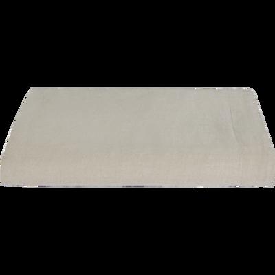 Drap plat en lin beige 270x300cm-VENCE