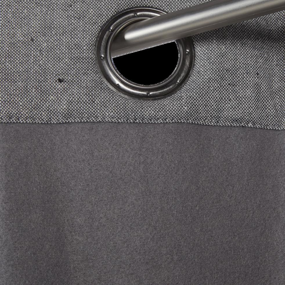 Rideau thermique gris restanque 140x300cm-CEZE