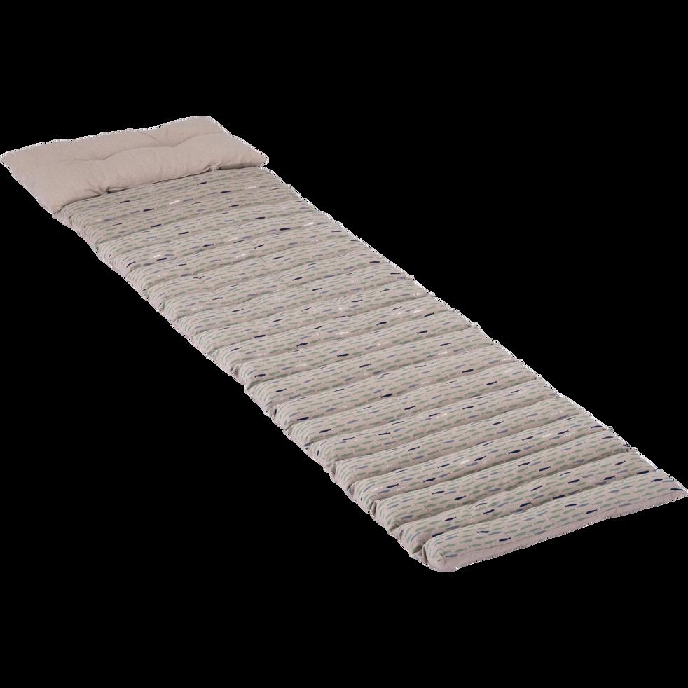 tapis de plage en lin beige à motifs 60x170cm - niolon - coussins d