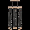 Suspension en métal et bois L80cm-BROOKLYN