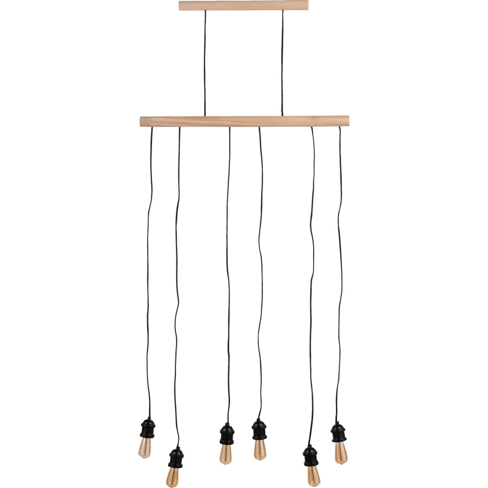 Et Brooklyn En L80cm Suspension Métal Bois wPO80kn