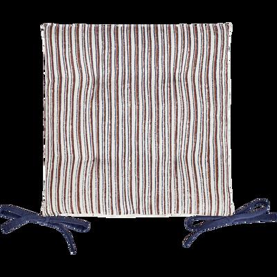 Galette de chaise de jardin en coton déperlant motif Sidi-MIKO
