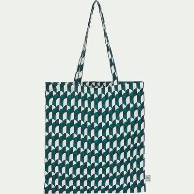 Sac en tissu motif vert-ARCA