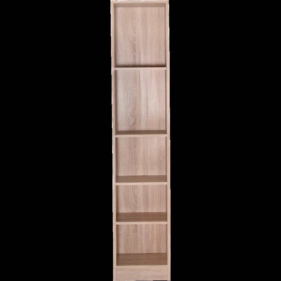 Grande bibliothèque 5 tablettes coloris chêne clair L40cm-Biala