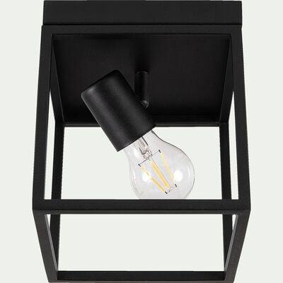 Plafonnier en acier - L18xl18xH20,5cm noir-SILENTINA