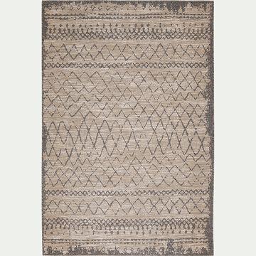 Tapis à motifs effet vieilli  - beige 160x230cm-BEDOUIN