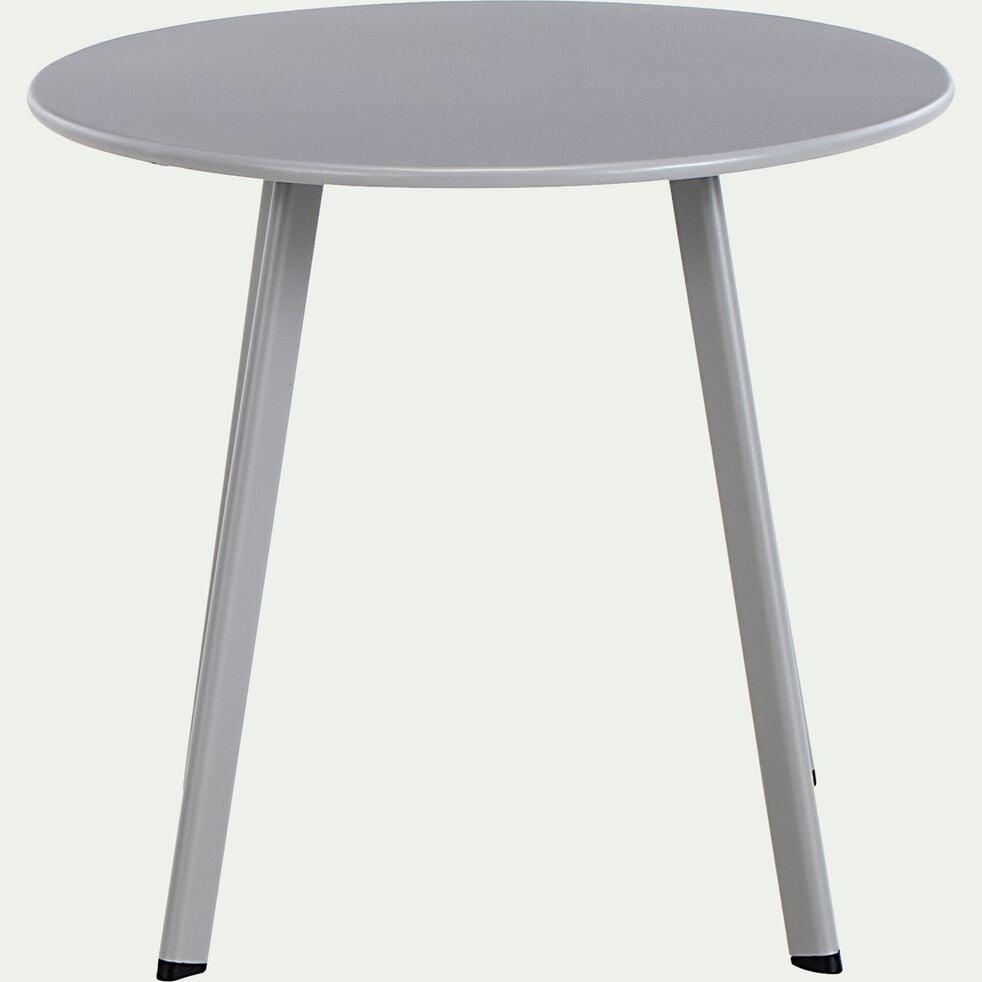 Table basse ronde en acier D45cm - gris vésuve-ELIO