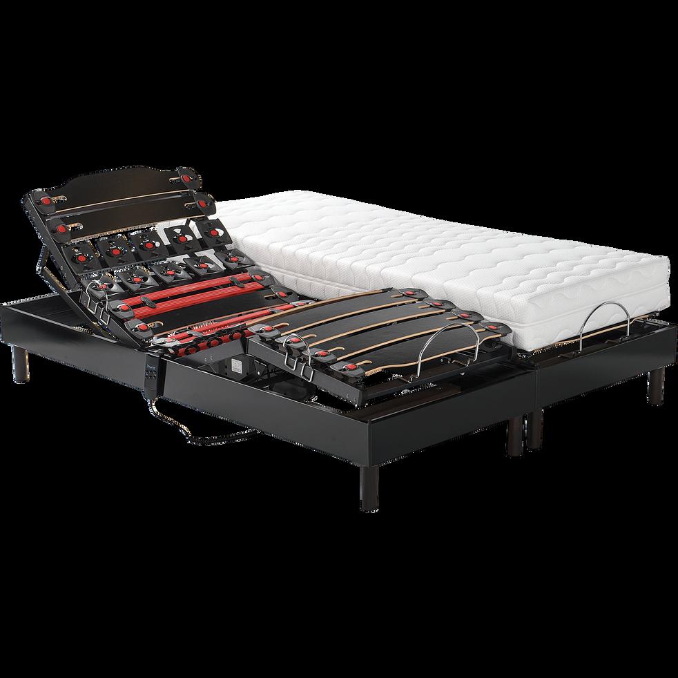 ensemble de relaxation matelas latex et sommier alin a 50 cm 2x80x200 cm xxl 160x200 cm. Black Bedroom Furniture Sets. Home Design Ideas
