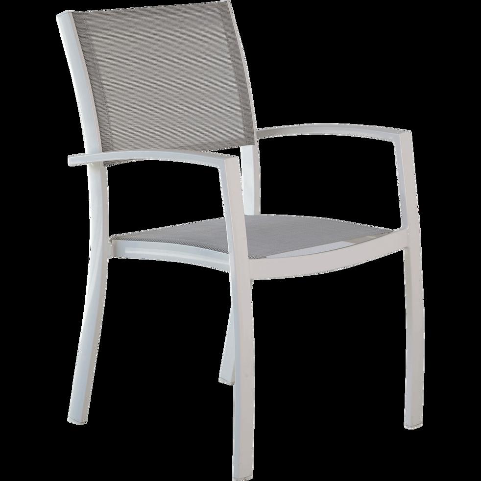 Fauteuil de jardin empilable gris en polyester solana chaises de jardin alinea - Alinea fauteuil jardin ...