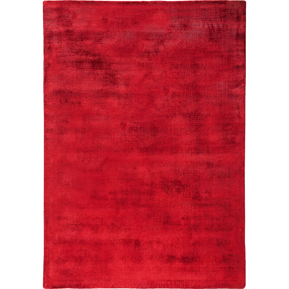 Tapis en viscose rouge 160x230cm-TANSEN