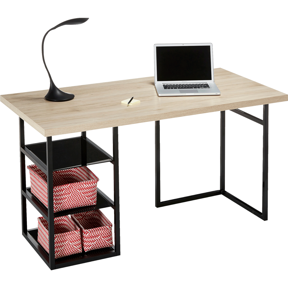 plateau de bureau d cor ch ne 75x150 cm ludo bureaux alinea. Black Bedroom Furniture Sets. Home Design Ideas