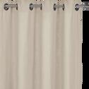 Rideau à oeillets en lin lavé beige roucas 140x280cm-VENCE