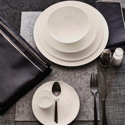 Assiette creuse en porcelaine légère qualité hôtelière D21cm-SENANQUE