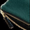 Trousse en velours vert-SAKURA