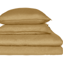 Taie de traversin en lin Beige nèfle 45x190cm-VENCE