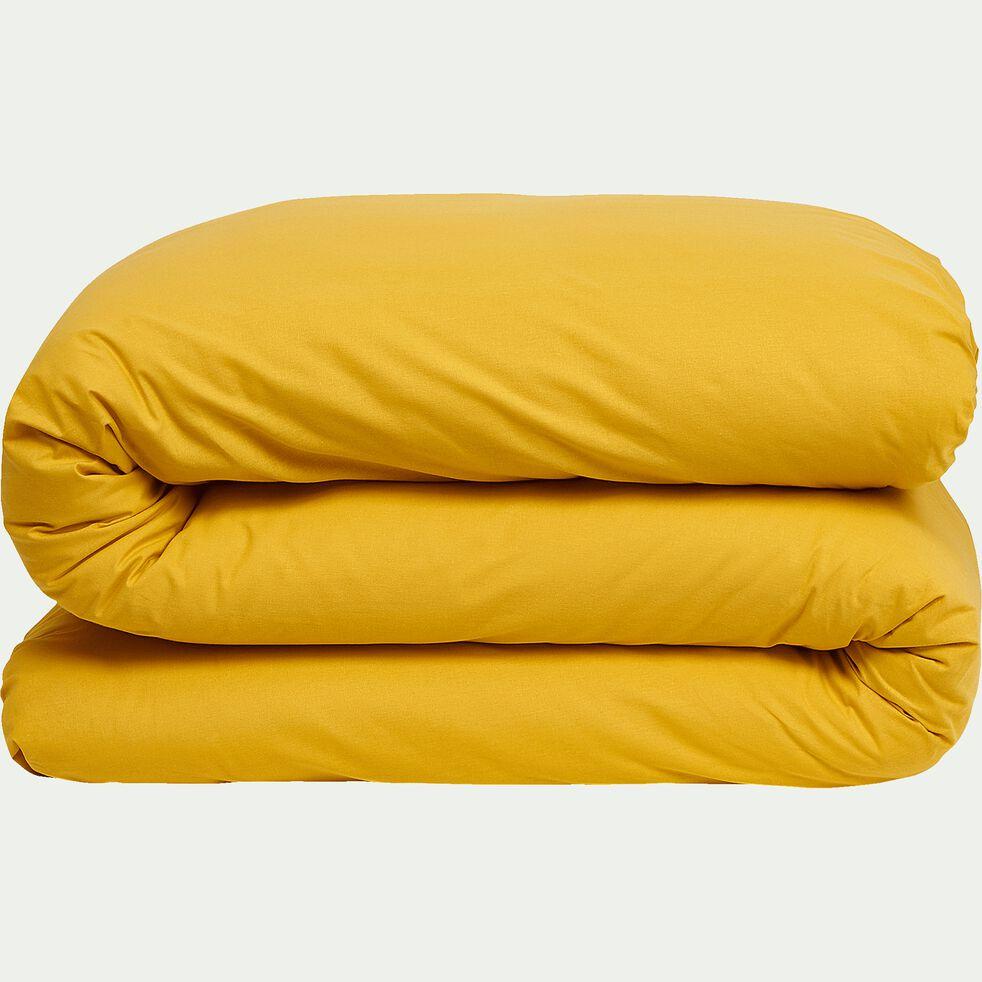 Housse de couette en coton - jaune genet 240x220cm-CALANQUES