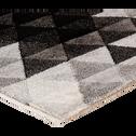 Tapis gris à motifs 160x230cm-ISO
