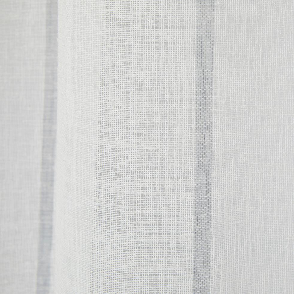 Voilage à rayures blanc et gris 140x240cm-VAISON