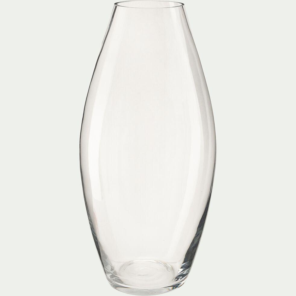 Vase conique en verre - transparent H38cm-PHORMIUM
