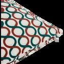 Coussin motifs vert et rouge 40x40 cm-TORTI