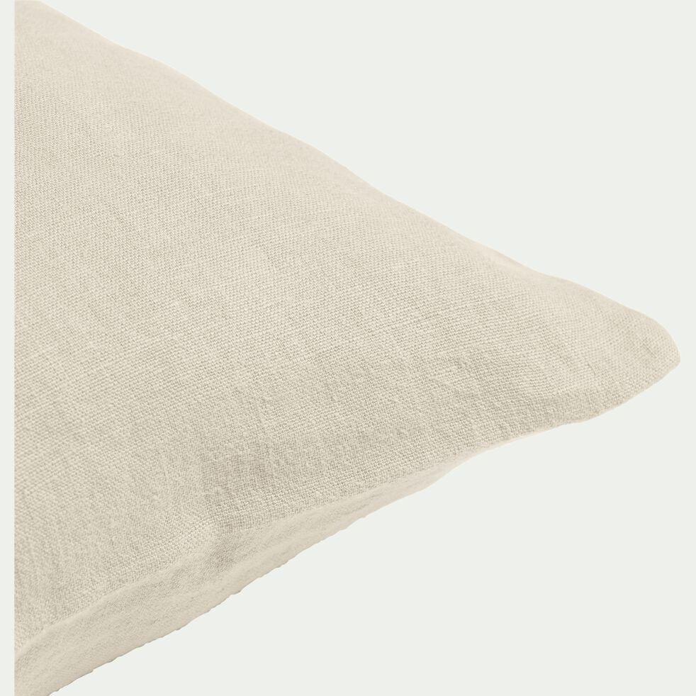 Coussin en lin lavé - beige roucas 40x60cm-VENCE