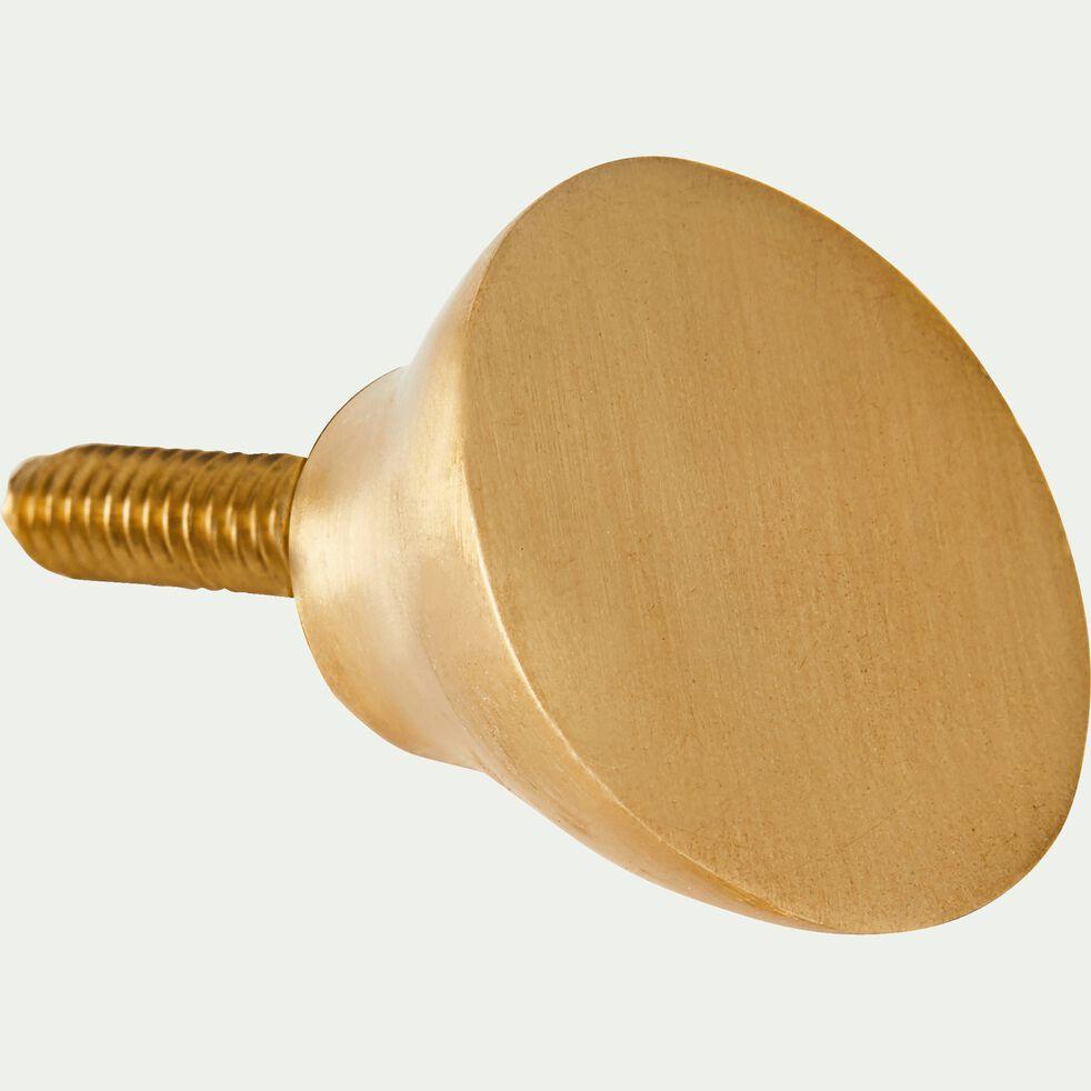 Patère ronde en laiton - doré D4,5cm-HEM