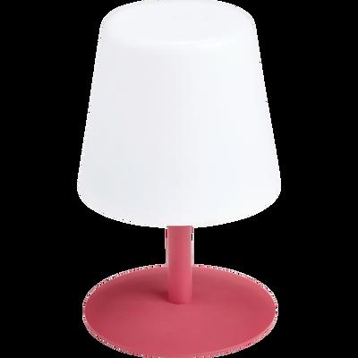Lampe de table nomade avec pied en métal rouge arbouse H26cm-MUGEL