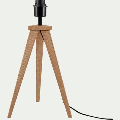 Pied de lampe en bois - chêne H45,5xD20cm-TRIX