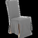 Housse de chaise en coton gris-LILY