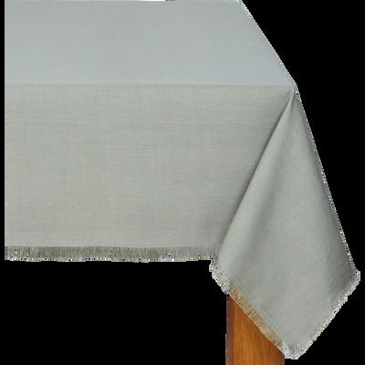 Nappe en lin et coton vert olivier 170x250cm-CASTILLON