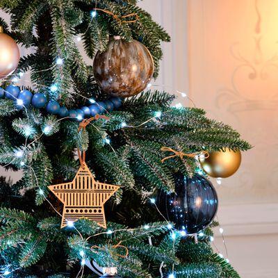 Boule de Noël en verre bleu D8cm-bizio