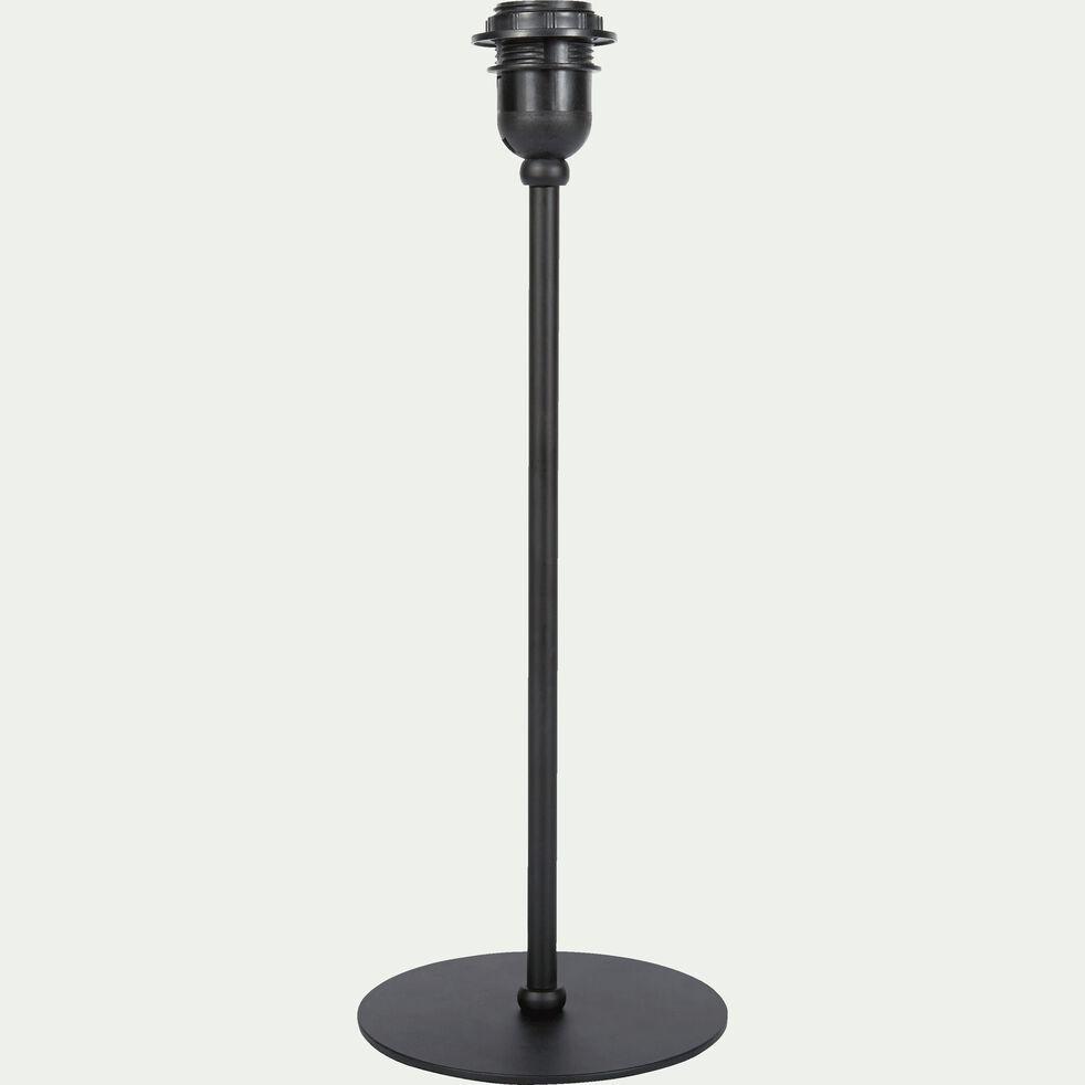 Pied de lampe en métal noir H41cm-CESARIO