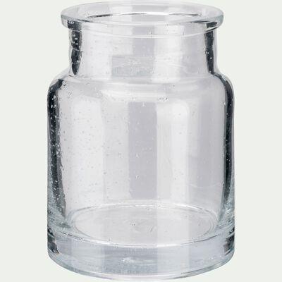 Vase en verre transparent H13cm-IKARIA