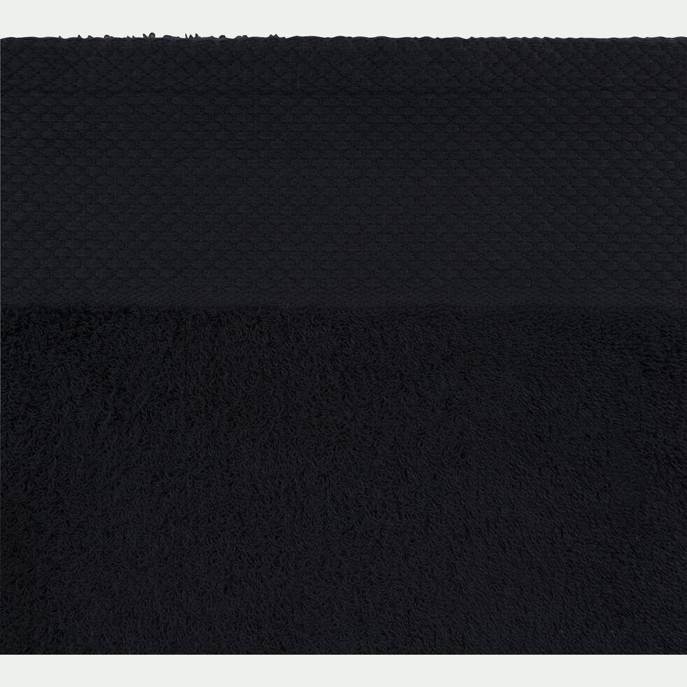 Serviette invité en coton peigné - gris calabrun 30x50cm-AZUR