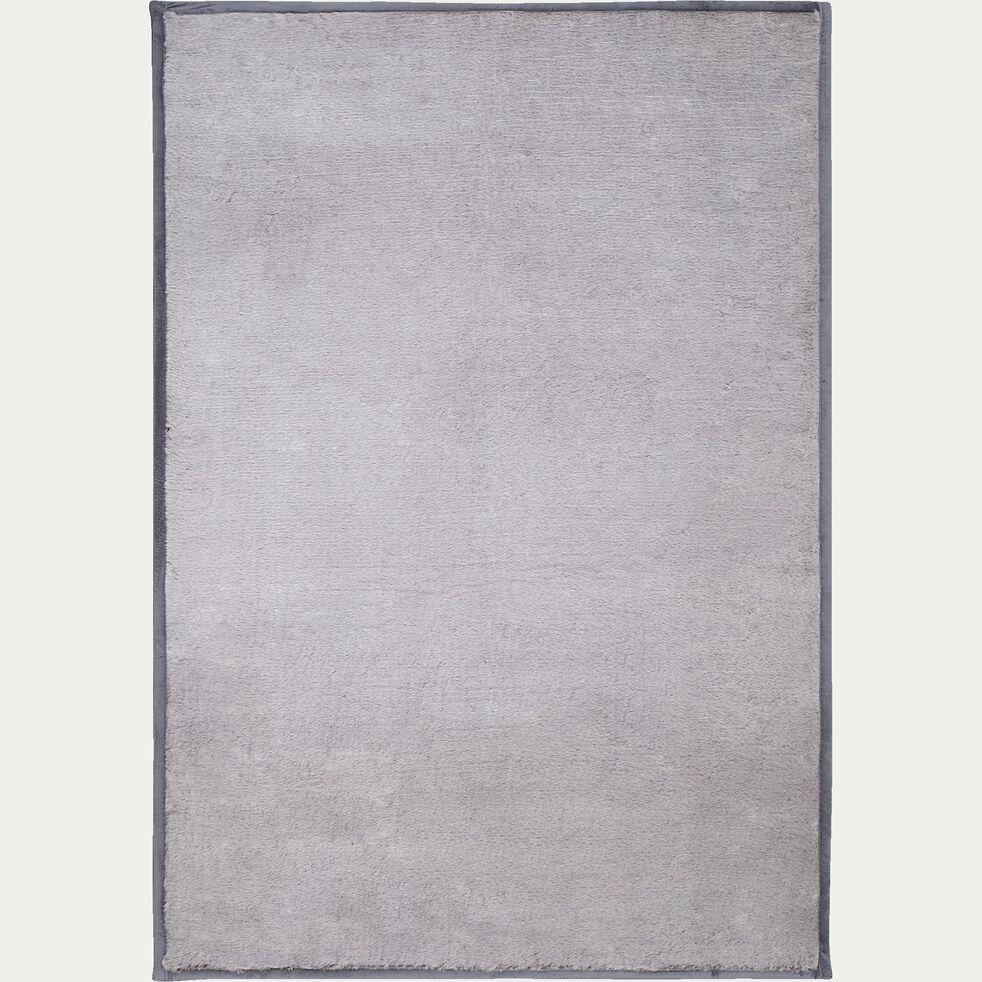 Tapis imitation fourrure - gris clair 120x170cm-Dallas