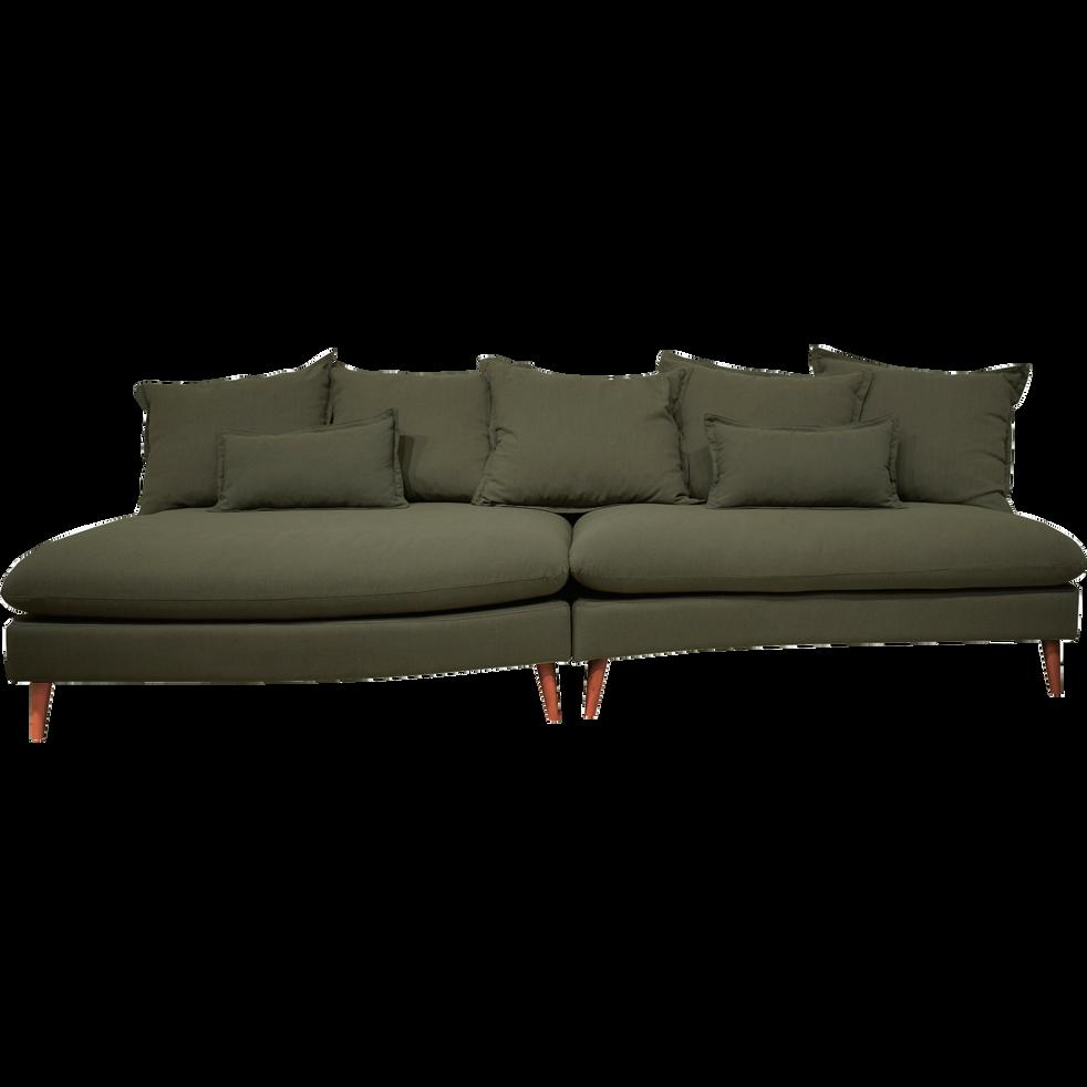 Canapé 5 places en tissu vert cèdre-LAMO
